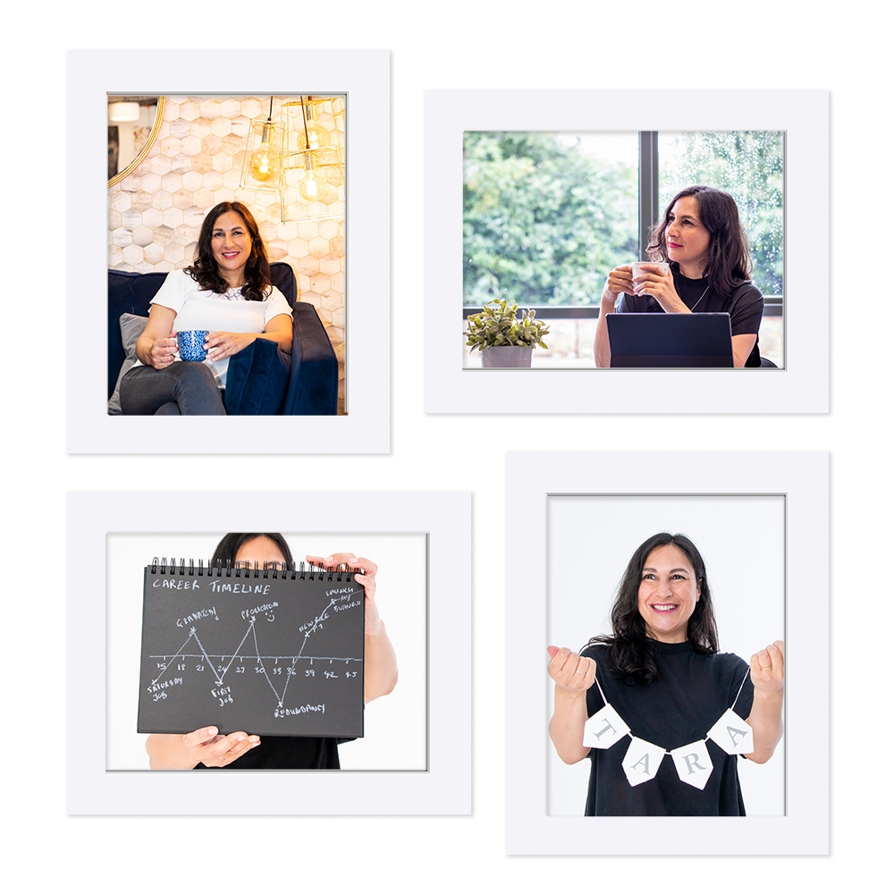 A selection of on-brand visuals from a personal branding shoot for a life and career coach