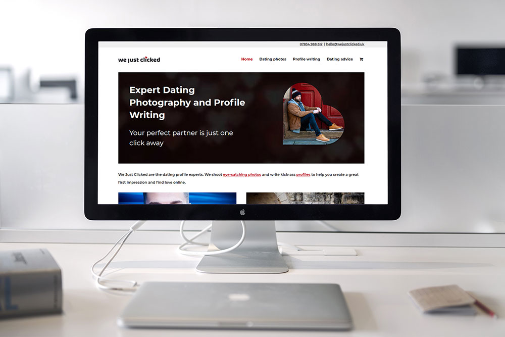 Website design for dating photographer and profile writing expert